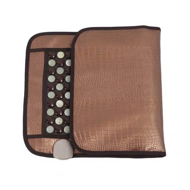 220V healthcare Korea germanium tourmaline massage mat Mix jade mattress electric heating therapy pad cushion nuga best 45x80cm