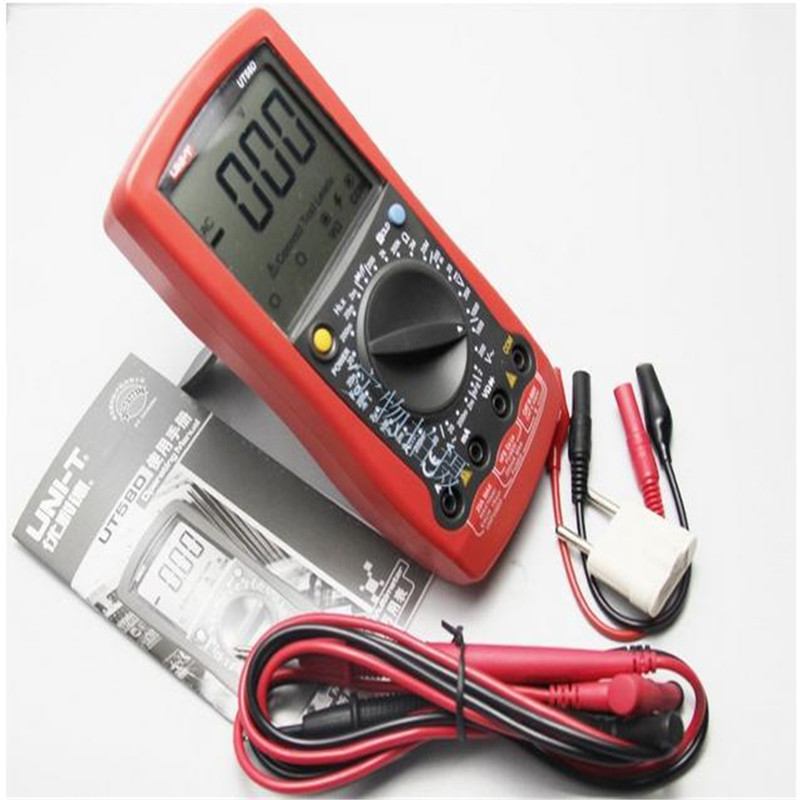 UNI-T UT58D LCD Digital Multimeter Volt Amp Ohm Capacitance Inductance Tester freeshipping multimeter digital professional uni t ut603 2 7 lcd digital inductance capacitance tester red grey 1 x 9v