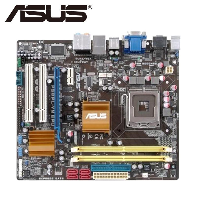 Asus P5QPL-VM EPU Desktop Motherboard G41 Socket LGA 775 Q8200 Q8300 DDR2 8G u ATX UEFI BIOS Original Used Mainboard On Sale asus p8b75 v desktop motherboard b75 socket lga 1155 i3 i5 i7 ddr3 32g uatx uefi bios original used mainboard on sale
