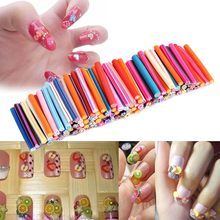 50Pcs Nail Art Stickers Clay Canes Rod Polymer Sticks Decoration Fruit Flower Dollhouse 5 Styles Nails DIY Tools(China)