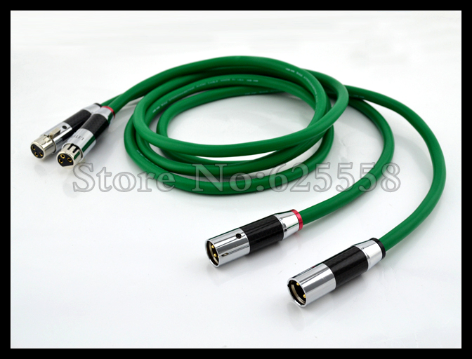 1PairX Hifi audio 4N Copper Mcintosh XLR Interconnect audio cable with scarbon fiber XLR plugs mcintosh mb100