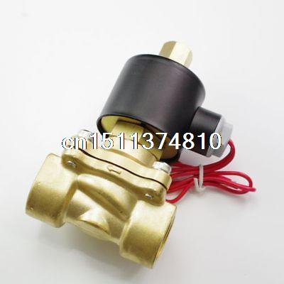 DC12/24V AC110/220/380V Water Air Gas Fuel Normal Open Solenoid Valve 1/4 BSPP