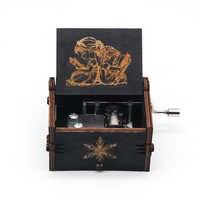 Caja de música de madera de manivela juego de tronos Tema de bestia y belleza canción regalo de fiesta de cumpleaños de navidad regalo conmemorativo