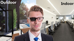 Image 3 - 2018 Overgang Zonnebril Meekleurende Leesbril Brand Design Mannen Half Frame Vierkante Leesbril Met Dioptrie Bril