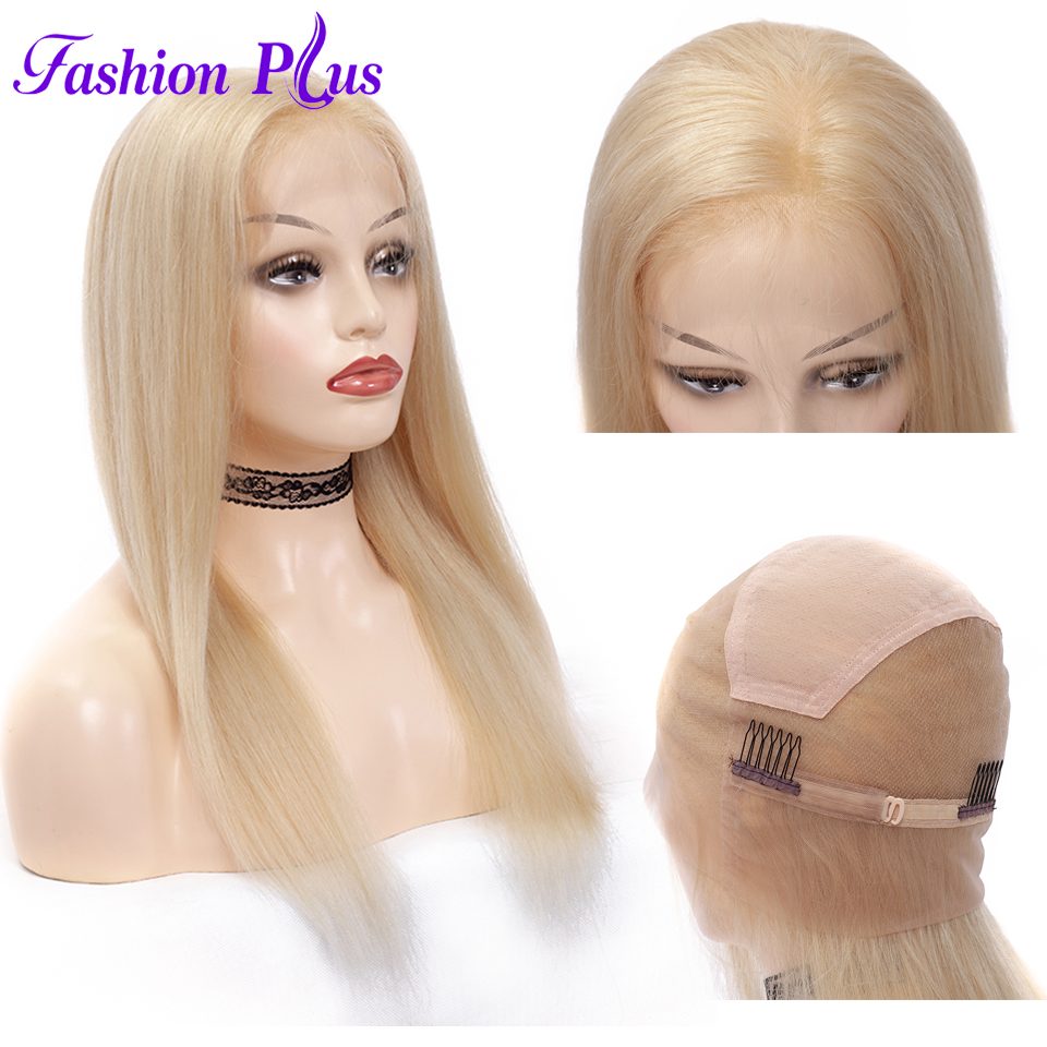 Image 2 - Full Lace Human Hair Wigs Pre Plucked 613 blonde Brazilian Remy Hair Wigs For Women Human Hair Wigs 14 24'' Can Be Customized-in Jewish Wigs from Hair Extensions & Wigs