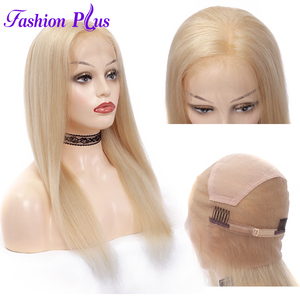 Image 2 - Full Lace Human Hair Wigs Pre Plucked 613 blonde Brazilian Remy Hair Wigs For Women Human Hair Wigs 14 24 Can Be Customized