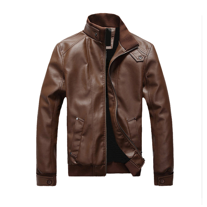 Spring and autumn men's clothing Men's Leather Jacket Motorcycle PU overcoat faux leather coats and jackets