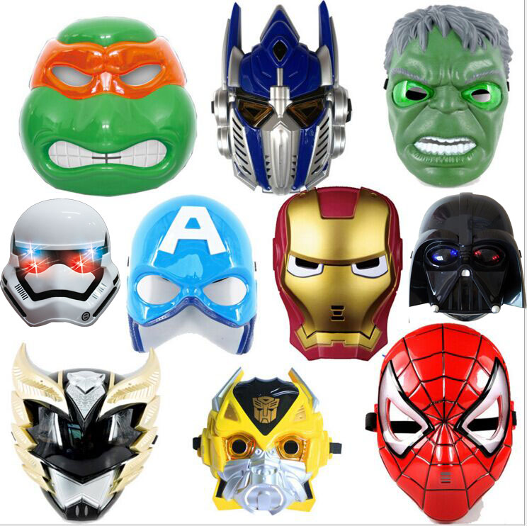 Superhero Star Wars figures costume mask cosplay 1:1 with light  toy kid 2016 new Darth Vader clone trooper masque Halloween costume party star wars light saber blue and red starwar telescopic lightsaber cosplay 33 7 interactive sword model kids toys