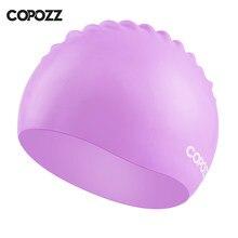 52fe3494a Copozz Homens mulheres elásticas tamanho grande cor doce desgaste da natação  chapéu Adultos chapéu de natação toucas de natação .