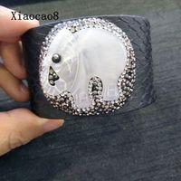 50 CM Vỏ Elephant Mở Bangles & Bracelets Unisex Whide Da Rắn Cuff Bangles 2017 Trendy Bangle Điều Chỉnh Phụ Nữ Đàn Ông Jewelry