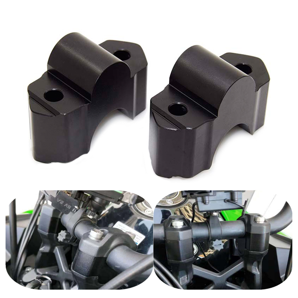 for Kawasaki Versys 1000 2015-ON handlebar riser height adapter aluminum black free shipping