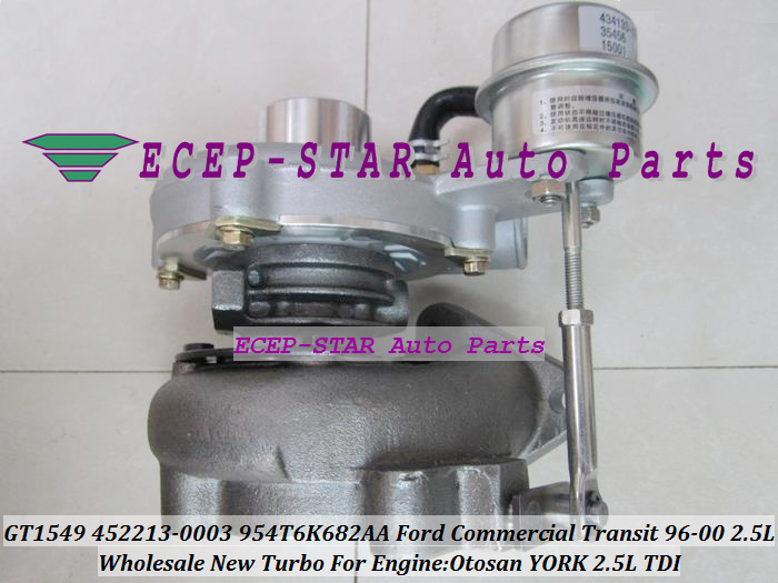 Free Ship GT1549 452213 452213-5003S 452213-0002 X4T6K682AA Turbo For Ford Commercial Transit van YORK Otosan 97-00 2.5L TDI