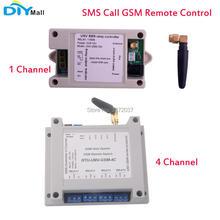 2G Rede Módulo 1/4 Relé com Caso de Chamadas SMS GSM Controle Remoto Interruptor SIM800C STM32F103CBT6 para Estufa Bomba de Oxigênio