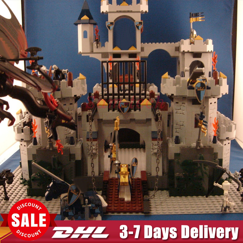 IN Stock 2018 DHL LEPIN 16017 1023Pcs The King`s Castle Siege Set Children Educational Building Blocks Bricks Toys Model Gifts dhl lepin 18032 2932 pcs the mountain cave my worlds model building kit blocks bricks children toys clone21137 in stock