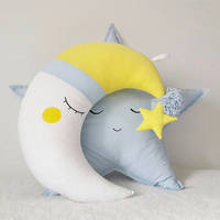 Baby Pillow Moon Star Baby Breastfeeding Pillow For Newborns Nursing INS Style Children Sleeping Cushion Baby Room Decoration