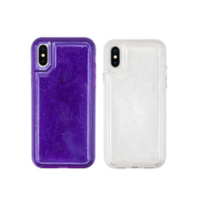Europe American purple solid liquid Release pressure jelly soft mobile phone case anti-fall protection back cover funny housing