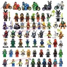 NEW Compatible LegoINGlys NinjagoINGlys Mini figures Cole Kai Jay Lloyd Nya Zane Yang Dogshank Building Blocks Toys Ninja Weapon