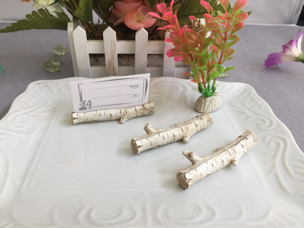 style birch place card holders unique wedding decoration favor gift