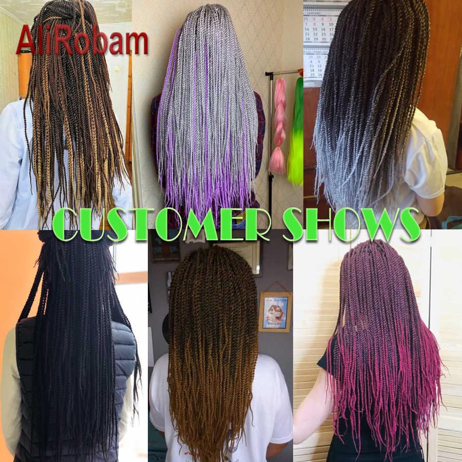 AliRobam, на крючках, косички, HAVANA mambo плетение, косички, 14, 18, 22 дюйма, химическое волокно Сенегальские вьющиеся волосы для наращивания, 30 шт./упаковка