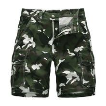 купить New Cargo Shorts Men Top Design Camouflage Military Army Khaki Shorts Homme Summer Outwear Hip Hop Casual Cargo Camo Men Shorts по цене 1131.98 рублей
