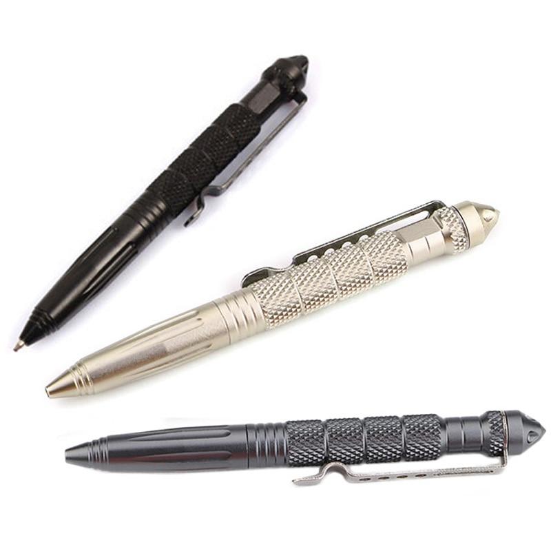 "6/"" Portable Aviation Aluminum Multifunctional Tactical Pen Glass Breaker Tools"