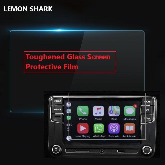 Lemon tubarão película protetora, película de vidro temperado para volkswagen rcd330 rcd330 plus 187a 187b 28b