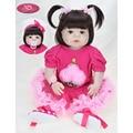NPK 57 см полное тело Мягкие силиконовые девочки Reborn Baby Doll Bathe игрушки Реалистичные кукла принцесса для девочек Bebe реальное возрождение Boneca ...