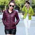 2015 nueva capa ocasional del invierno de las mujeres Abajo chaqueta delgada estilo portable Slim Down chaqueta de algodón Más El Tamaño S-XXXL