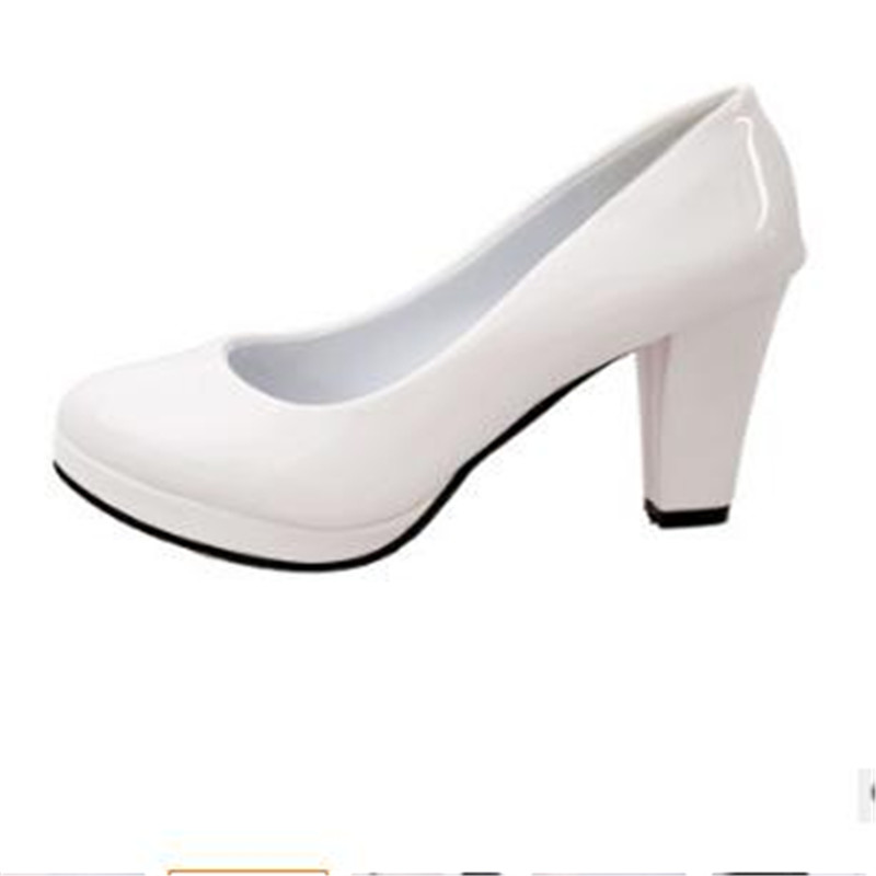 2017 Women s Spring And Summer platfrom pumps 4 color Round Head Shallow Mouth Single women