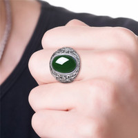 2019 Rings Time limited Boys Semi precious Anel Anillos Gift Dominee Male Ring Banzhi Hetian Opening S925 Pure Money