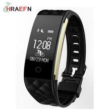 S2 Смарт пульсометр smartband браслет спортивные часы фитнес-трекер браслет для Android IOS ПК xiaomi mi группа 2