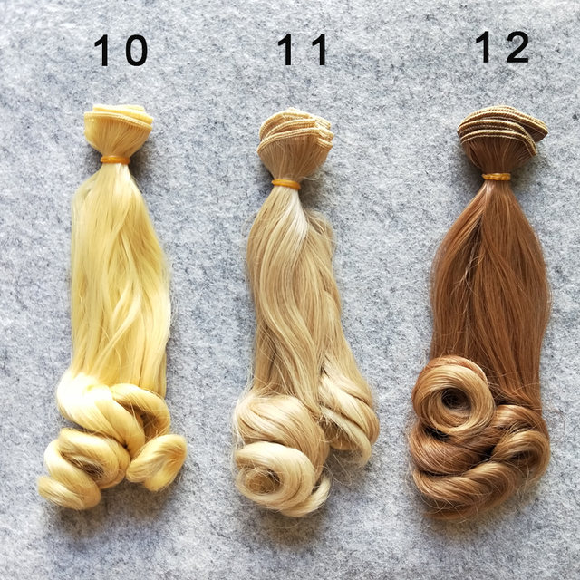 1PCS/LOT Retail New Arrival BJD Accessories Culry Doll Hair 15CM DIY Synthetic Hair For Doll Wigs