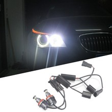 Pair 40W H8 Cree XB-D Chip LED White Halo Ring Angel Eye Bulbs for BMW F01 F02 F03 DRL HALO 09-11 FOR E90 E91 LCI 335i 328i