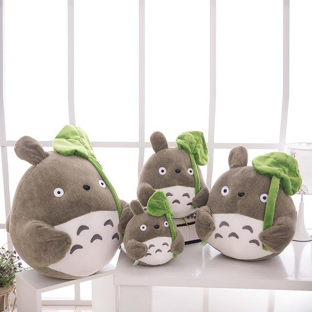 Totoro Plush with Lotus Leaf Kids Toys