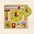 Baby Дети Дети Деревянные Часы, Календарь Форма Сортировка Раннего Образования Игрушки