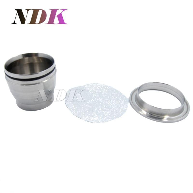 1 Stainless steel Nespresso Refillable Coffee Capsules +120pcs Aluminum Seals Refilling Nespresso Capsule Coffee