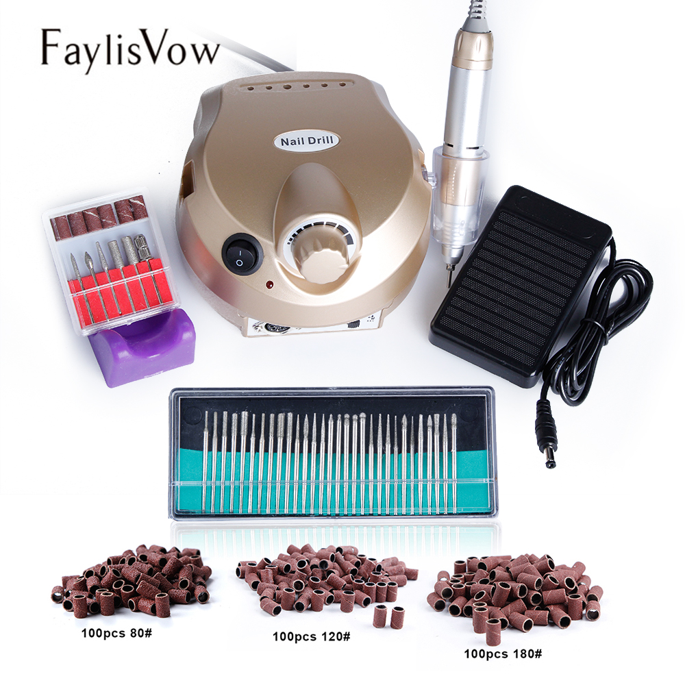 30000RPM Electric Apparatus Machine for Manicure 30pcs Nail Drill Bits Cutters for Pedicure Nail Art Tools Nail Milling Machine ceramic nail art tools milling cutter for manicure pedicure nail drill apparatus rotary manicure device set of milling cutters