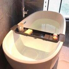Телескопическая стойка для ванной, ванная комната, пластиковая стойка для раковины, лоток для ванной, кухонная раковина, ванна и стеллаж для хранения