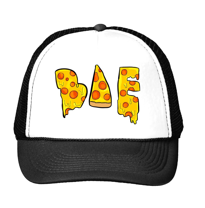 harajuku pizza bae Print Baseball Cap Trucker Hat For Women Men Unisex Mesh Adjustable Size Drop Ship M-140 showersmile brand sherlock holmes detective hat unisex cosplay accessories men women child two brims baseball cap deerstalker