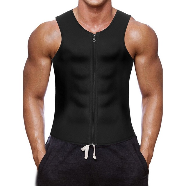 3597b327ccf63c 2018 Sexy Black Tank Top Men Running Vest Bodybuilding Fitness Sleeveless  Undershirt Zipper Slim Fit Vest