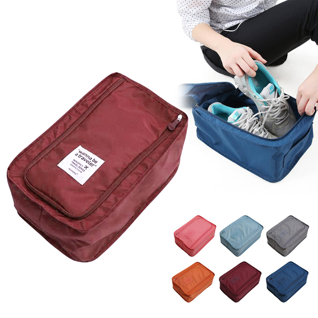 New Multifunction Travel Storage Bag Nylon 6 Colors Portable Organizer Bags Shoe Sorting Pouch Hot Sale