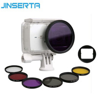 JINSERTA 7 In 1 CPL UV Filter Professional 52mm Lens Protector Waterproof Cover For Xiaomi Yi