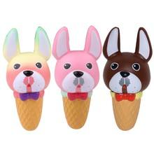 2019 New Kawaii Squishy Jumbo Dog Head Ice Cream Slow Rising Reduce Pressure Stress Relief Kids Squeeze Toy Gift For Children