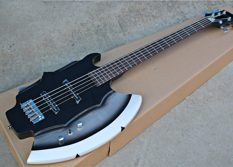 5 strings axe electric bass guitar with signature rosewood fretboard no inay chrome hardwares. Black Bedroom Furniture Sets. Home Design Ideas