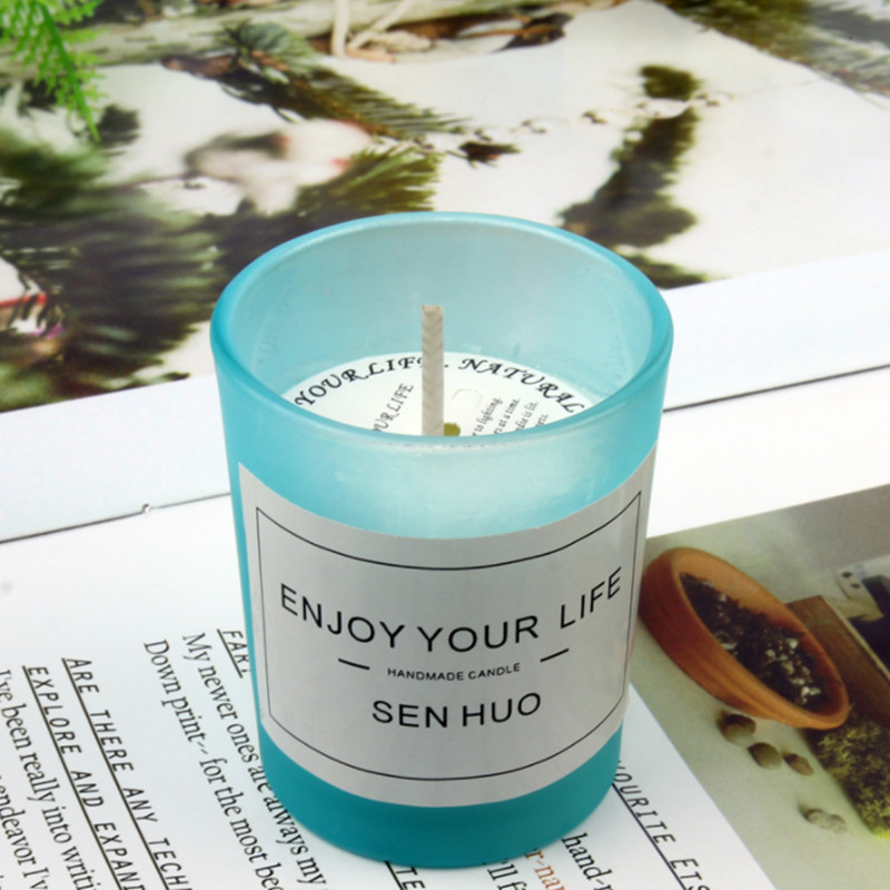 1PCS Pure Natural Soy Wax Scented Candle Essential Oil Candle Scents Aromatherapy Candle Burning Oil Soy Wax Candle in Candles from Home Garden