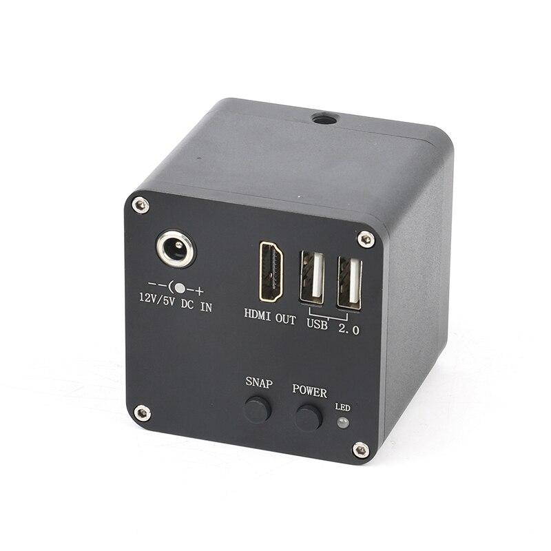 12MP 4MP 1080 p 60FPS 4 k FHD HDMI C Mount Digitale Industriale Video Macchina Fotografica del Microscopio Video di Memorizzazione Delle Immagini UI misura Bilancia