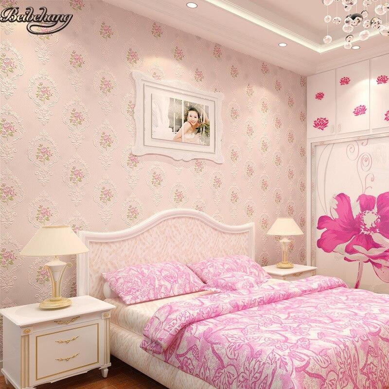 beibehang pressure  three - dimensional European - style garden flowers non - woven wallpaper  living room sofa background