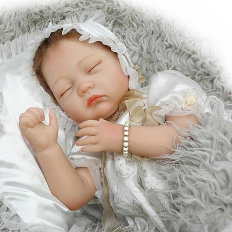 Soft Silicone Reborn Babies Doll 22 Inch 50 CM Sleeping Newborn Girl Baby Dolls With Clothes Kids Birthday Christmas Gift hot sale 2016 npk 22 inch reborn baby doll lovely soft silicone newborn girl dolls as birthday christmas gifts free pacifier