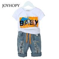 JOYHOPY Children S Clothing Sets 2018 Spring Summer Baby Boys Suit Kids Clothes T Sshirt Denim