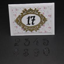 AZSG Number symbol Cutting Dies For DIY Scrapbooking Decorative Card making Craft Fun Decoration 13.6*10.1cm